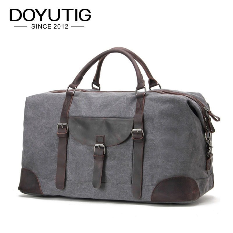 European Style Gray Color Men & Women Travel Hangbags Canvas Casual Big Totes For Trip Solid Color Large Capacity Bags G028 stylish solid color lightweight pleated scarf for women