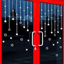 1pcs Stars Wall Stickers Windows Home Birthday Wedding Party Decor Christmas Decoration Merry Tree Gift