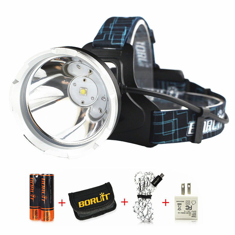 B10 3800LM XM-L2 LED Headlamp Hunting Waterproof Headlight USB Rechargeable Frontal Head camping Lamp Torch Light + Battery &CH boruit b10 xm l2 led headlamp 3 mode 3800lm headlight micro usb rechargeable head torch camping hunting waterproof frontal lamp