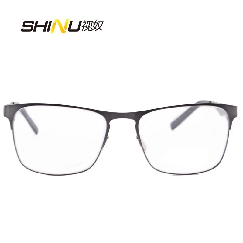 očala moški optična očala okvir prilagodljivo kovinsko steklo iz - Oblačilni dodatki - Fotografija 3