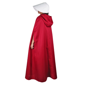 Image 5 - The Handmaids Tale Cosplay Offred Costume Long Dresses Cloak Halloween Carnival Women Red Cape Hat Bag Full Set Party Gown Suit
