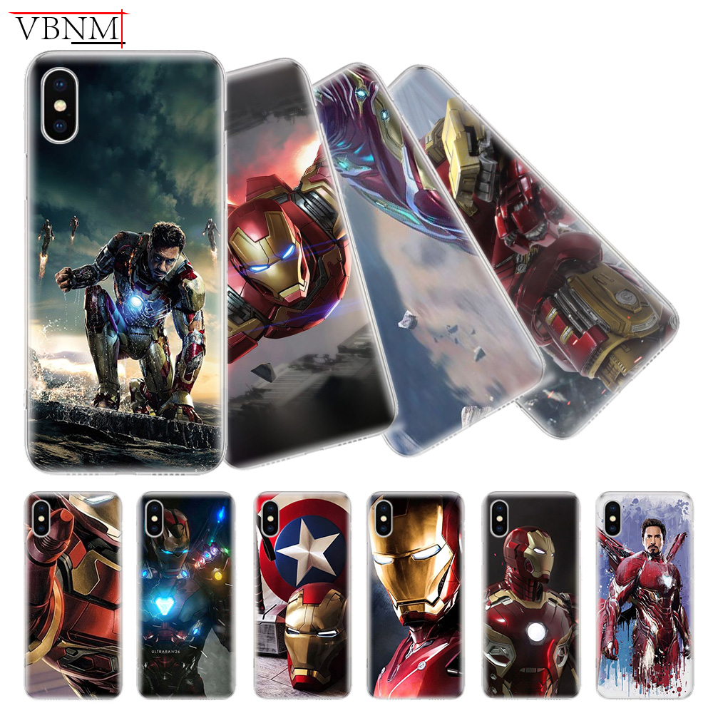 Iron Man Tony Stark Soft Phone Back Case For iPhone 6 6S 7 8 Plus X 10 XS MAX XR 5 5S SE Gift Customized Apple Cover Coque Capa