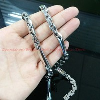 Fashion Design 24 New Arrival Silver Tone High Polished 316L Stainless Steel Cool Bling Men S
