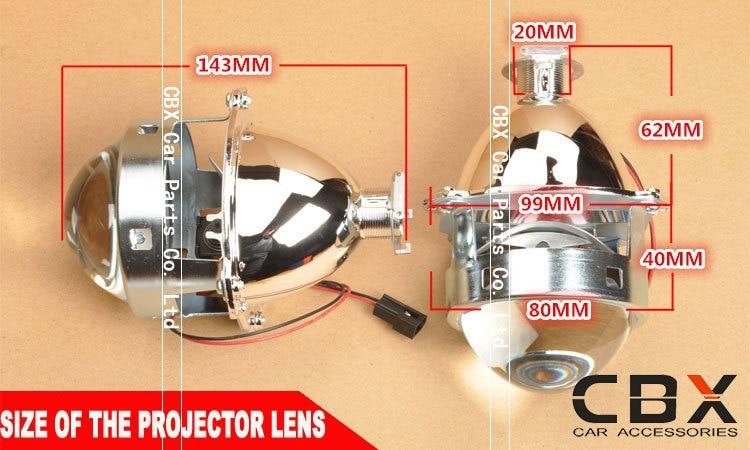 3.0 WST Bi Xenon Lensa Proyektor Jenis Perak Mengkilap Menggunakan - Lampu mobil - Foto 4