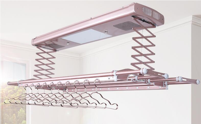 Séchoir électrique commande vocale télécommande intelligente ascenseur balcon plafond automatique télescopique séchoir - 1