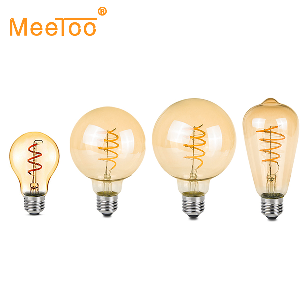 Ampoule Led E27 Dimmable Us 4 99 30 Off Dimmable Ampoule Led E27 220v Spiral Lampe Led Filament Lamp Light Bulb 3w Retro Vintage Lamps A60 St64 G80 G95 Decorative Light In