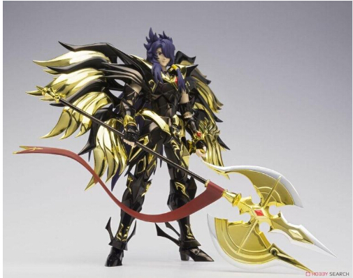 Original Bandai Anime Model Metal Saint Seiya Cloth Myth Soul of Gold Evil God Loki EX Metal Action Figure Colletion Model Toys