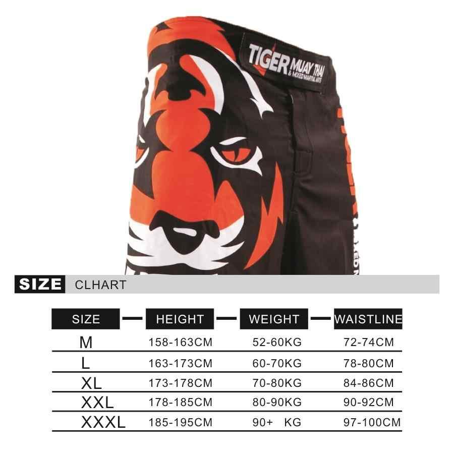 Wtuvive Tinju Olahraga Kebugaran Kepribadian Bernapas Longgar Ukuran Besar MMA Celana Pendek Tinju Celana Lari Perkelahian Tiger Muay Thai