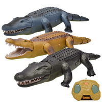 Real Life Electric Remote Control RC Crocodile Toy Luminescent Sound Animals Crawling Crocodile Kids Funny Toy For Children Gift