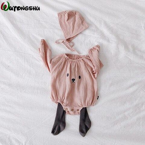 algodao roupas do bebe trajes fotografia