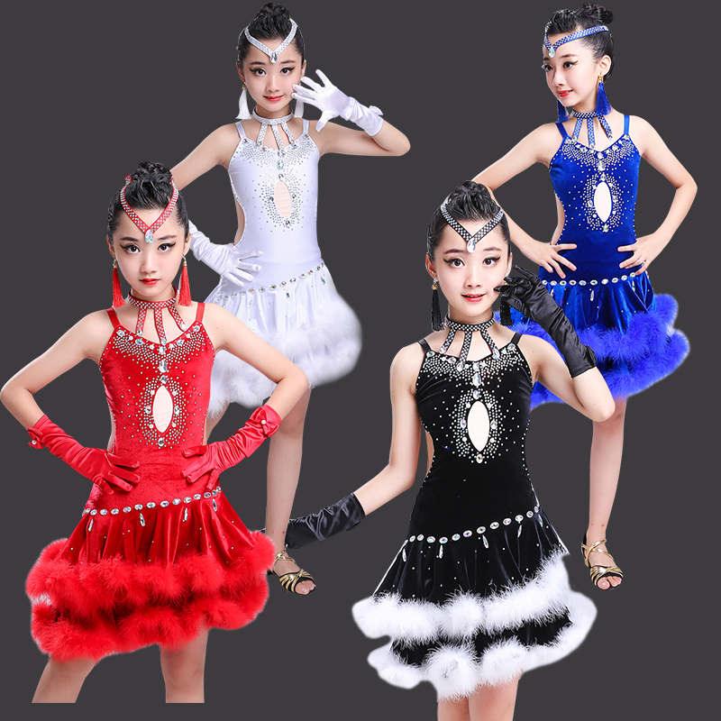New Latin dance competition children's Latin dance costume children's Latin show clothes-in Latin from Novelty & Special Use    1