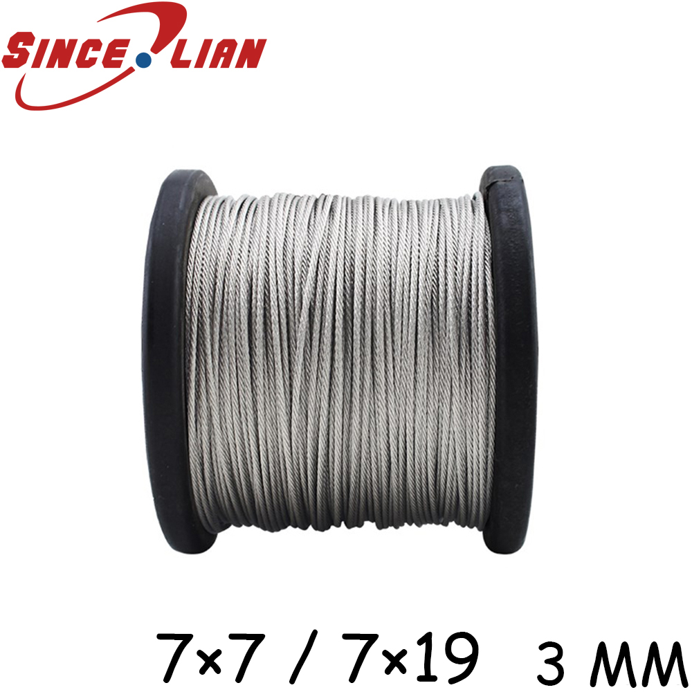 3mm 7*19 Stainless Steel Wire Rope 7 x 19-in Tool Parts from Tools ...