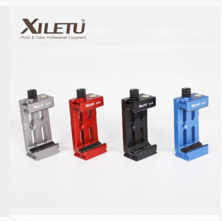XILETU XJ-8 Tripod phone tripod mount Head Bracket Mobile Phone Holder Clip For Flashlight Microphone With Spirit level