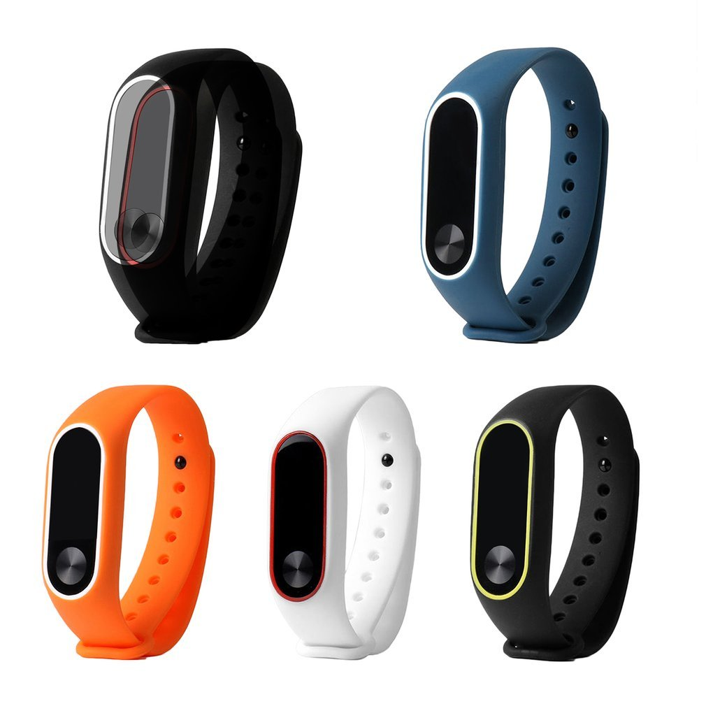 235*15*14 Mm Colorful Silicone Strap For Xiaomi Mi Band 2 Wristband Strap Mi Band 2 Smart Bracelet Replacement Accessories A30