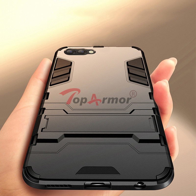 3D Armor Case Hybrid PC+TPU Shockproof Case For Huawei Honor 5X 6A 6X 8 9 10 Lite 7X V9 Play Honor 8 Pro 6C Pro V10 Stand Cover