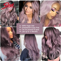 Sleek's Pre colored Ombre Bundles TT1B/Purple Color 3 Bundles With Closure Virgin Brazilian Human Hair Body Wave Hair Extension