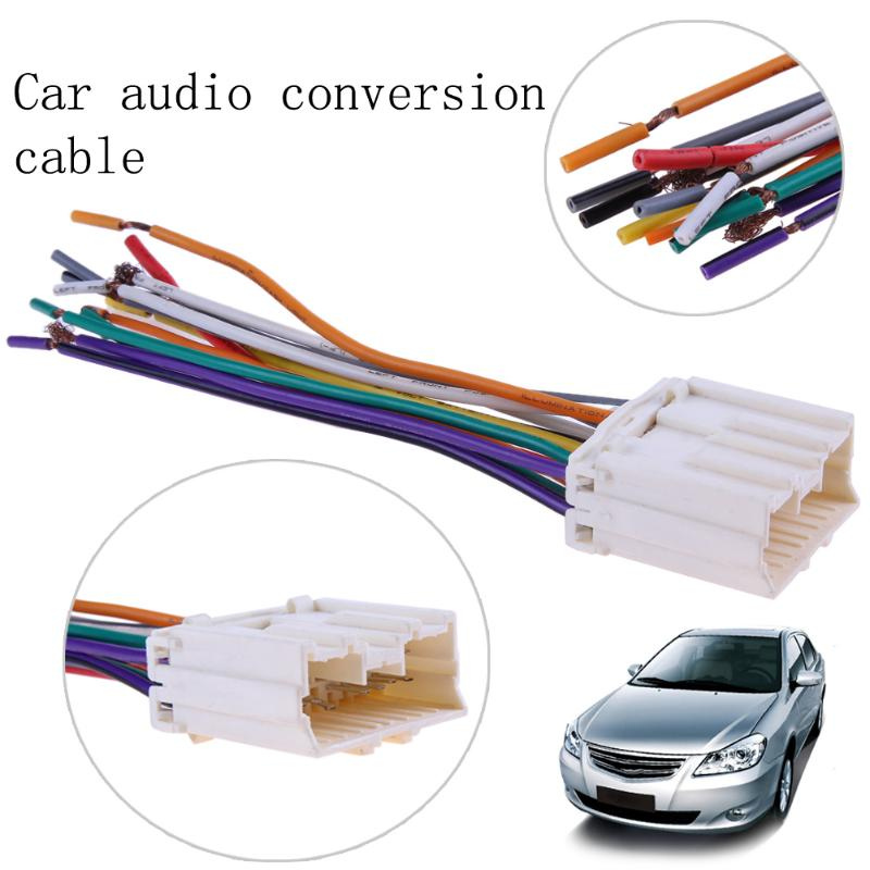 130mm Car Stereo Cd  Player Wiring Harness Adapter Plug