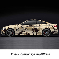 Camo Vinyl Sticker For Auto Car Motorbike Scooter Decoration Khaki Camouflage Wrap Vinyl Film 5m/10m/15m/20m/25m/30m