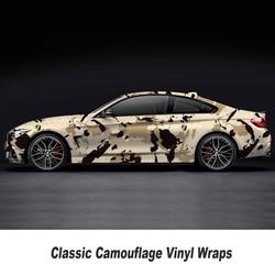 Camo Vinyl Sticker Voor Auto Motor Scooter Decoratie Khaki Camouflage Wrap Vinyl Film 5 M/10 M/ 15 M/20 M/25 M/30 M