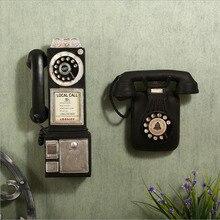 Бар стиль украшения для дома ретро старый ремесло украшения настенный телефон домашнее украшение маленькие украшения