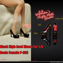 Black High-heel Shoes For 1/6 Scale Female 12 Action Figure 1:6 Phicen Toy P-052 Fashion Model