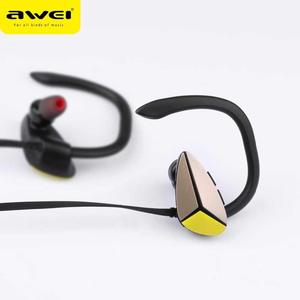 AWEI A888BL wodoodporne słuchawki Bluetooth sport Stereo bezprzewodowe słuchawki z mikrofonem zestaw słuchawkowy Bluetooth douszny