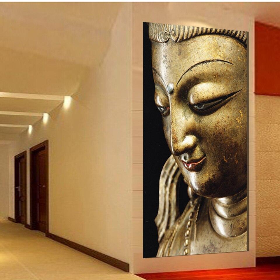 Cheap Contemporary Wall Art Aliexpresscom Buy Wall Art Religion Gold Buddha Oil Painting On