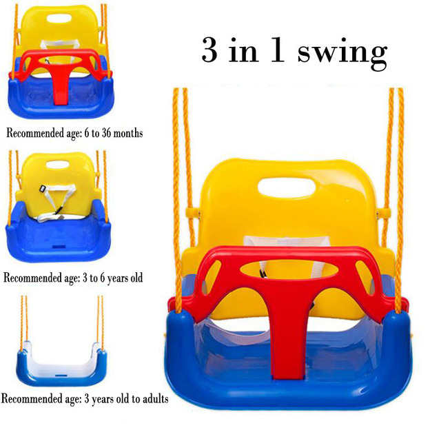 New 3 In 1 Color Children Swing Outdoor Toys Baby