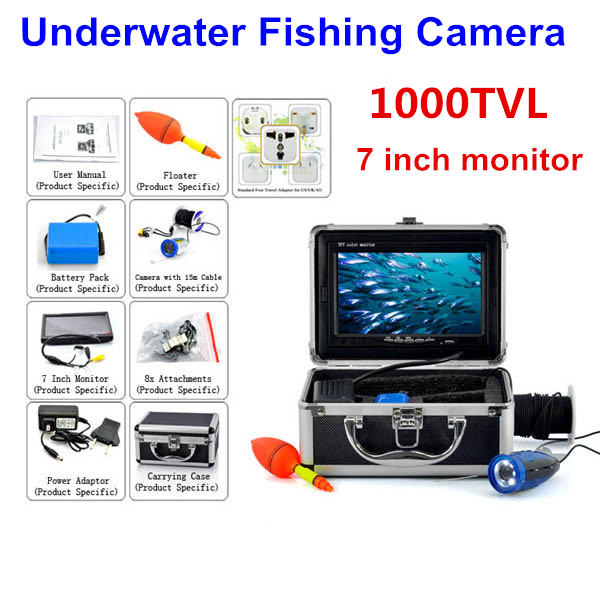 Hot 7 tft lcd monitor 1000 tv lines underwater fish for Fishing line camera