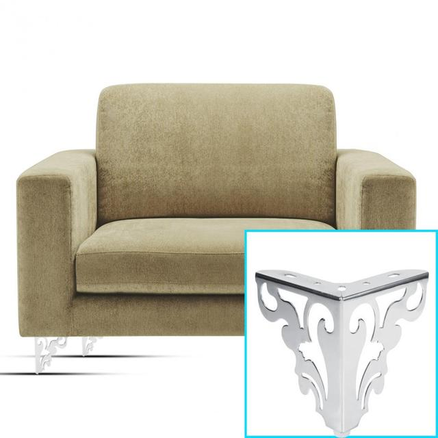 1 pc ספה רגל מתכת ריהוט פינת מגן מודרני חלול שולחן ארון מיטת רגל רגליים ריהוט אבזרי