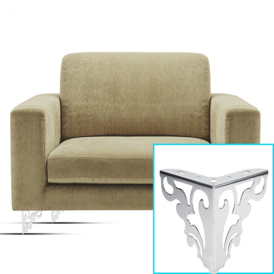1pc Sofa Leg Metal Furniture Corner Protector Modern