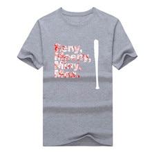 2017 Eeny, Meeny, Miny, Moe.  T-Shirt 100% Cotton The Walking Dead Negan Eenie Meenie Miny Moe T shirt 1215-1 Free shipping