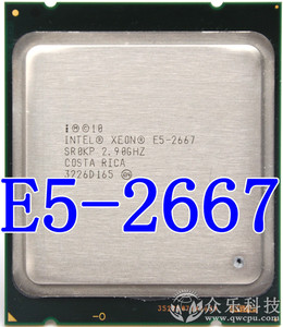 Intel Xeon Processor E5 2667 2.9GHz 6-cores 15M 8GT/s E5-2667 LGA2011 130W Server Processor SR0KP CPU