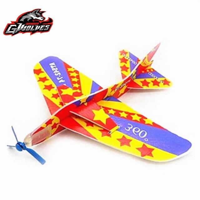 1set handmade magic plane 360 cyclotron foam aircraft model assemble creative educational children toys outdoors kids airplane
