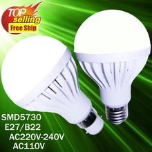 New Arrival Smd 5730 Led light Bulb E27 B22 3W 5W 7W 9W 12W Spotlight AC220V AC110V  LED Lamp Lampada