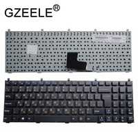 c9d46373ecc GZEELE Russian Keyboard for Clevo DNS MP-08J46SU-4306W 6-80-M9800-283-1D  MP-08J43NI-430 RU P151SM1 W76TUN W76XCUH W258 W258H NEW