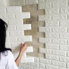 PE Foam 3D Stone Brick Panel Wall Sticker 39*70cm Home Decor Living Room Wallpaper For Kids Rooms Self-Adhesive DIY Art Mural(China)