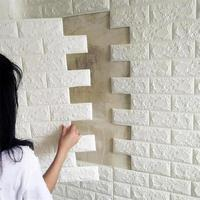 PE Foam 3D Stone Brick Panel Wall Sticker 39*70cm Home Decor Living Room Wallpaper For Kids Rooms Self-Adhesive DIY Art Mural