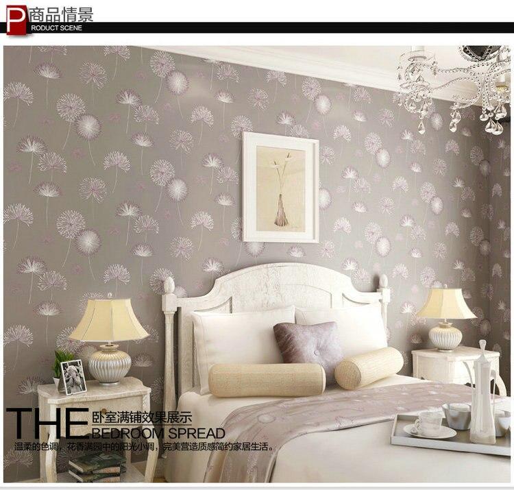 Shinehome 10 M 4 Couleurs Vol Pissenlit Elegant Mural Rouleaux Papier Peint Pour Salon Mur 3 D Papier Menage Simple Fond Aliexpress