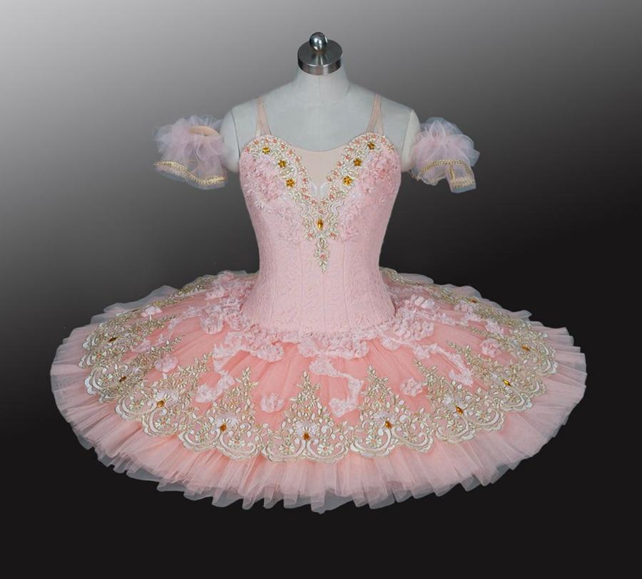 Adult Ballerina Sleeping Beauty Ballet Costumes Girls Sugar Plum Fairy Peach Pink Women Flower Professional Pancake Platter Tutu