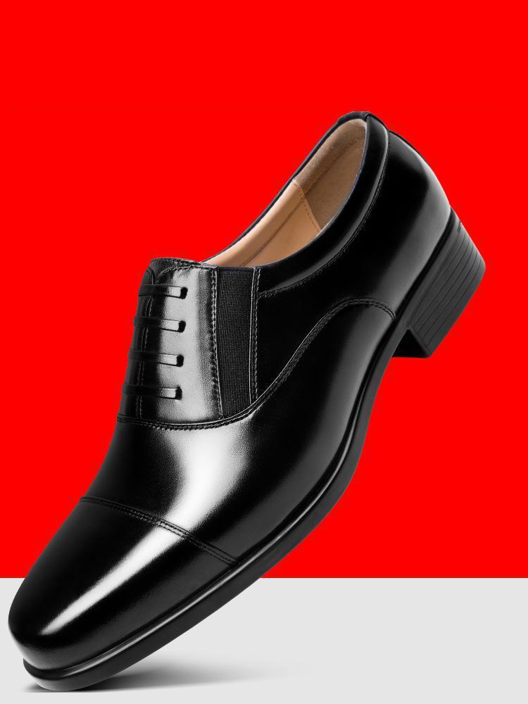 Black Mens Estilo Vestido Black Sapatos Homens Sapato lace Genuíno De Slip Outono Social Para Couro Up On Formal Uniforme Oxford PqwWCqvRa