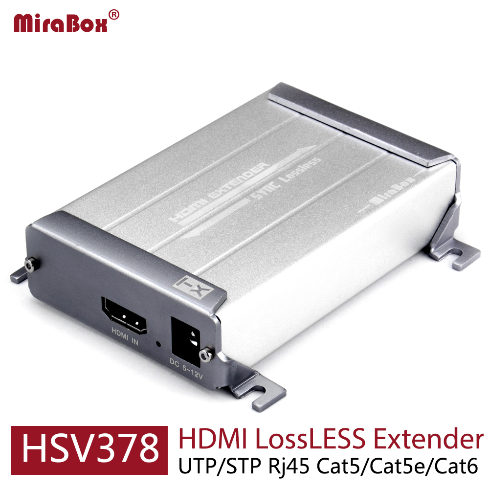 HSV378 HDMI UTP Extender 100m LossLESS No-Delay Good Image Quality 1080P HDMI Extender Over Cat5/Cat5e/Cat6 hsv379 hdmi extender over coaxial cable with a v lossless and no time delay tnc top up to 300 meters support full hd