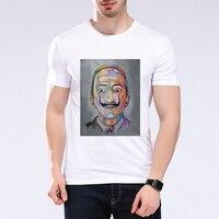 2017 New Harajuku 3D Men T Shirt Bearded Old Man Printed Abstract T Shirt Casual Summer