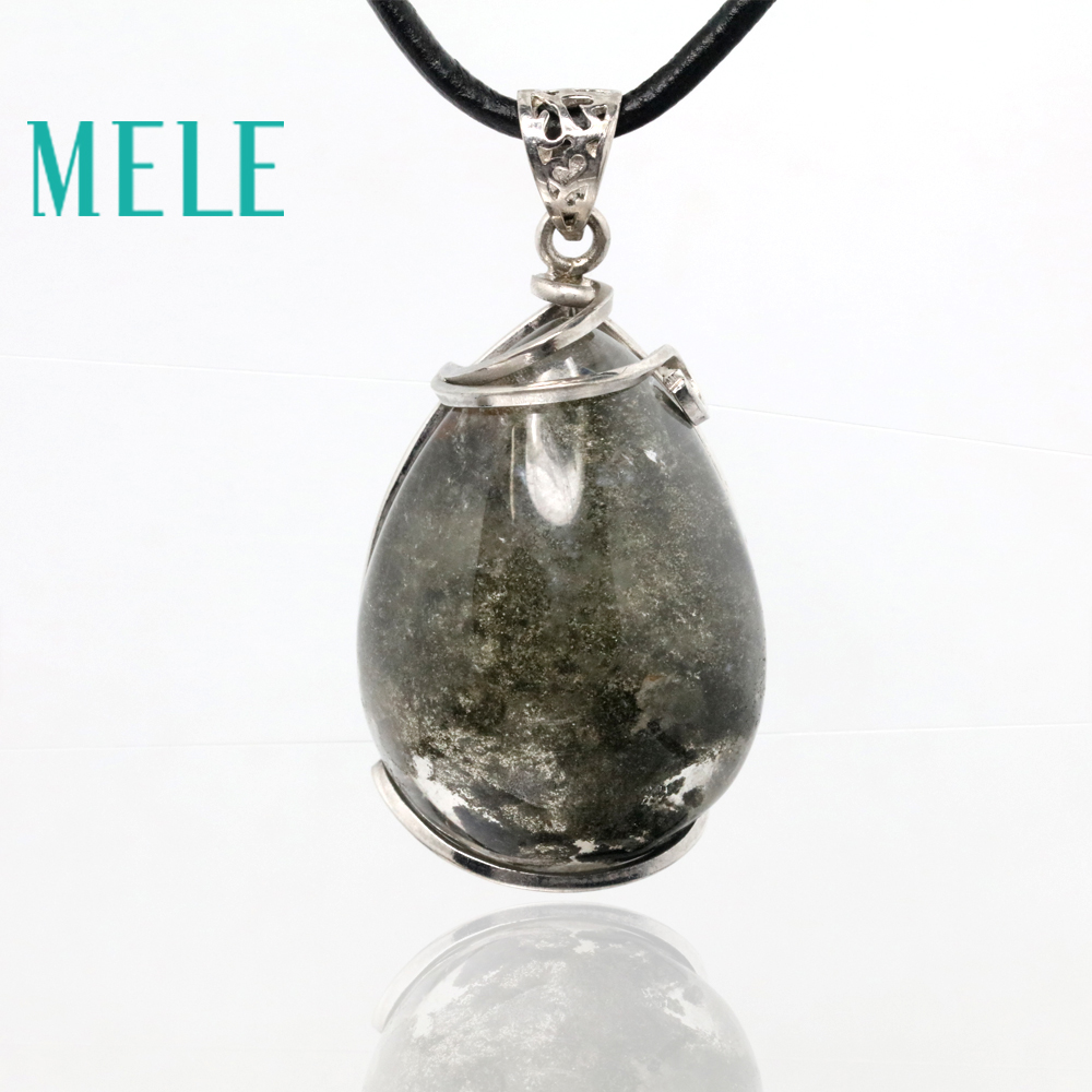 MELE natural green ghost phantom garden crystal pendants for women and man,22X31mm water drop shape with beautiful landscape benq w2000 dlp 1920x1080 2000 ansi lm