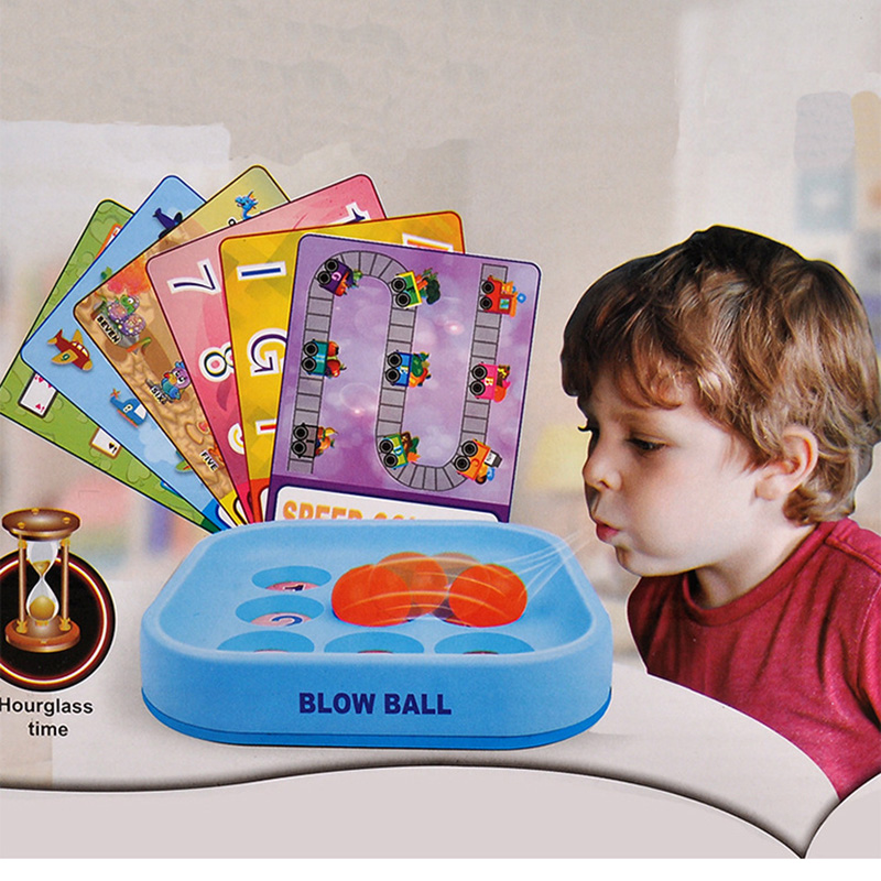 Blow Ball Education Board Game 2  Games Parents With Children Family Funny Game