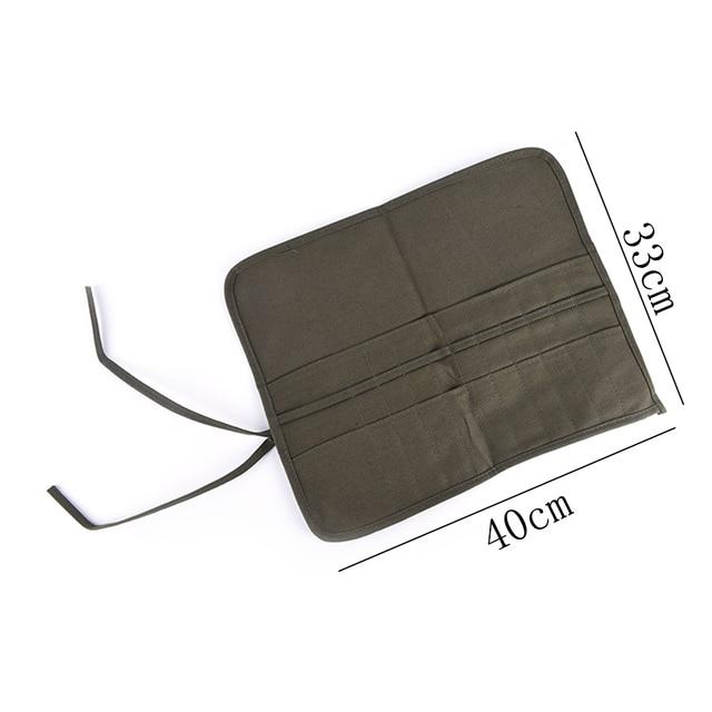 Army Green Roll Up bolsa de cosméticos de lona bolsa de pincel de pintura estuches Draw Pen pincel de aceite de acuarela material de artes escolares más nuevo