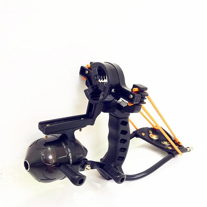все цены на Adult Powerful Target Shooting Slingshot with Folding Wrist Catapult Professional Hunter Hunting Fishing Sling Shot Outdoor