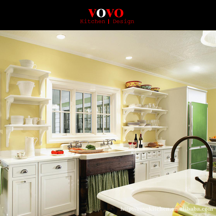 Custom Made Kitchen Cabinet: Custom Made Newest White Paint Solid Wood Kitchen Cabinet