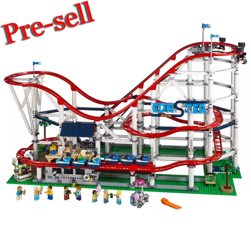 Lepin City Street Figures 15039 4619Pcs Roller Coaster Model Building Kits Blocks Bricks Toys For Children Compatible With 10261 10646 160pcs city figures fishing boat model building kits blocks diy bricks toys for children gift compatible 60147