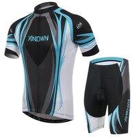 XINTOWN bir mavi bisiklet sürme jersey kısa kollu takım elbise bisiklet yaz nem terleme çabuk kuruyan giyim pantolon|cycling jersey pants|cycling jersey suitbike suit -